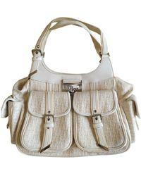 Dior Beige Cloth Handbag - Multicolour