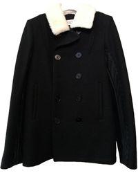 Maison Margiela Abrigo en lana negro