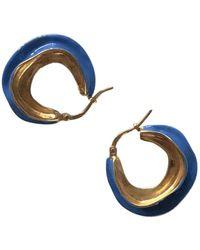 Celine Swirl Earrings - Blue