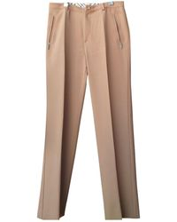 Burberry Wool Large Pants - Multicolor