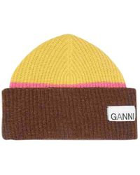 Ganni Fall Winter 2019 Wolle Strickmütze - Braun