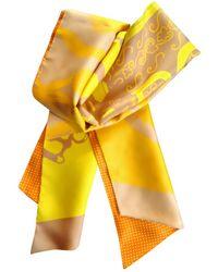 Hermès Sciarpa Maxi twilly in Seta - Giallo
