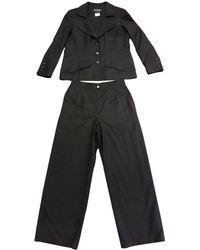 Chanel Wool Suit Jacket - Black