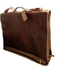 Etro Leather Small Bag - Brown