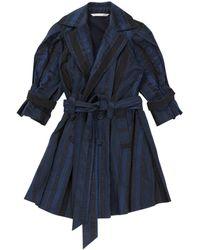 Diane von Furstenberg Blue Cotton Coat