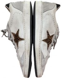 Golden Goose Deluxe Brand Ball Star Leder Sneakers - Weiß