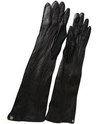 Lanvin Leather Long Gloves - Black