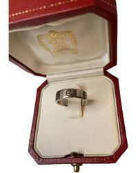 Cartier Anillo Love de Oro blanco