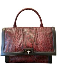 Givenchy Shark Burgundy Python Handbag - Multicolour