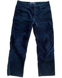Haider Ackermann Velvet Trousers - Blue