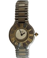 Cartier Vintage Must 21 Silver Gold Plated Watches - Metallic