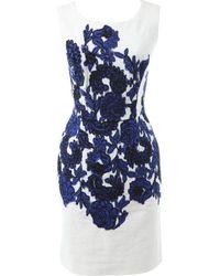 Oscar de la Renta White Cotton Dress