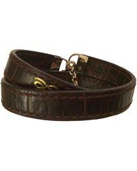 Lancel Leather Bracelet - Brown