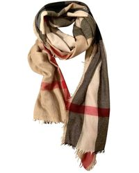 Burberry Cashmere Scarf - Natural