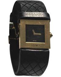 Chanel Matelassée Gelbgold Uhren - Schwarz