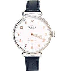 Shinola Reloj en acero plateado \N - Multicolor