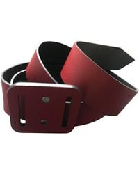 Louis Vuitton Leather Belt - Red