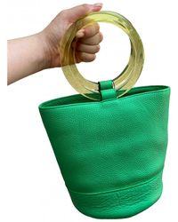 Simon Miller Medium Bonsai Leather Handbag - Green