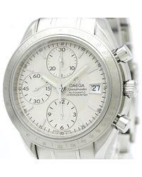 Omega Reloj en acero plateado - Multicolor