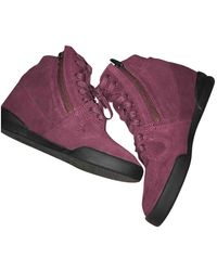 The Kooples Burgundy Leather Sneakers - Multicolor