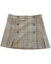 Burberry Mini Skirt - Gray