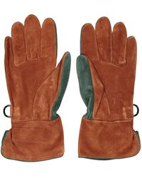 Hermès Camel Suede Gloves - Multicolour