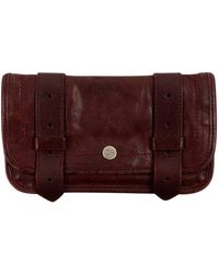 Proenza Schouler Burgundy Leather Wallet - Multicolor