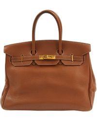 Hermès Birkin 35 Leather Handbag - Brown