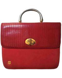 Balmain Leather Satchel - Red