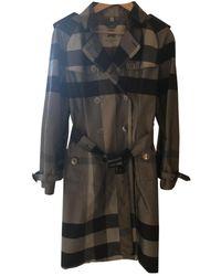 Burberry Silk Trench Coat - Grey