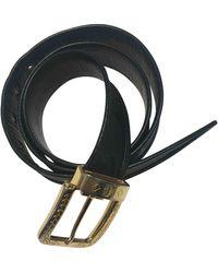 MCM Black Cloth Belt