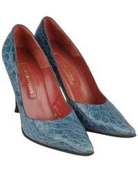 Sergio Rossi - Blue Leather - Lyst