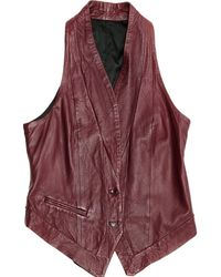 Zadig & Voltaire - Burgundy Leather - Lyst