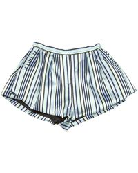Natasha Zinko Multicolour Polyester Shorts - Blue