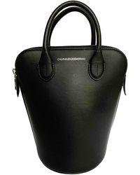 CALVIN KLEIN 205W39NYC Leather Handbag - Black