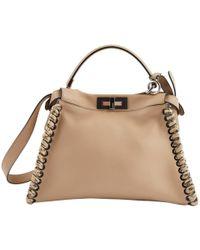 022e96f2901 Lyst - Fendi Peekaboo Micro Leather Shoulder Bag in Pink