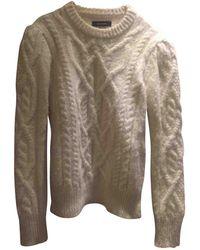 Isabel Marant - Ecru Wool Knitwear - Lyst