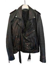 BLK DNM Leather Vest - Multicolor