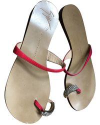 Giuseppe Zanotti Leather Sandal - Pink