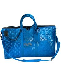 Louis Vuitton Keepall Blue Cloth Bag