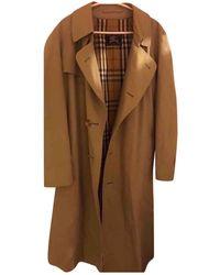 Burberry Vintage Beige Cotton Coats - Natural