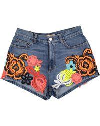 Christopher Kane - Multicolour Cotton Shorts - Lyst