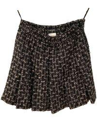 Chanel Tweed Mini rock - Schwarz