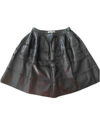 Dior Leather Mid-length Skirt - Black