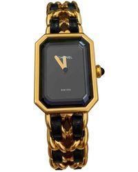 Chanel Montres Première en Or jaune Doré - Métallisé