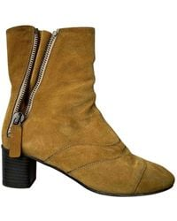 Chloé Lexie Ankle Boots - Yellow