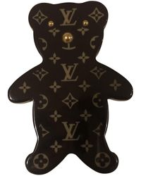 Louis Vuitton Spilla in plastica marrone