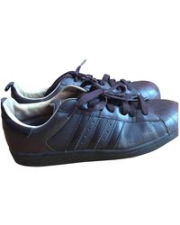 adidas Superstar Leder Niedrige Turnschuhe - Braun