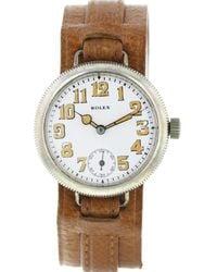 Rolex Reloj en oro blanco marrón