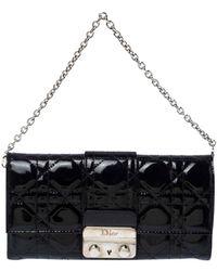 Dior Miss Black Patent Leather Clutch Bag